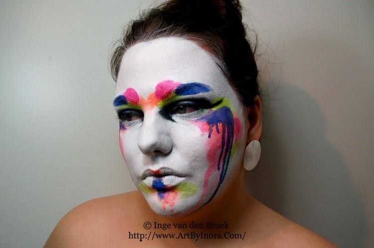 neon geisha make up look